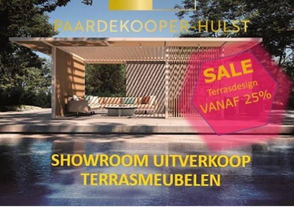 Showroom uitverkoop terrasmeubelen
